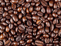 Background of dark roasted coffee beans Stock Image