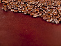 Background of dark roasted coffee beans Royalty Free Stock Photo