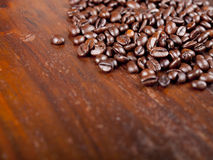 Background of dark roasted coffee beans Stock Images