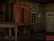 Background-Dark room Stock Image