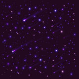 Background dark sky with bright stars Royalty Free Stock Images