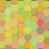 Background of dark yellow hexagons. Raster Stock Images