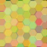 Background of dark yellow hexagons. Raster Stock Images