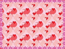 Background for Day of Valentine. Vector illustration royalty free illustration