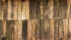 Background of decay wood  on  old cottage wall  surface Royalty Free Stock Images