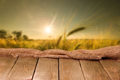 Background. Deck surface advertisement photomontage wallpaper page Stock Image