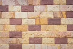 Background of decorate sand stone wall Royalty Free Stock Photography