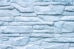 Background of Decorated  Blue Brick Wall Royalty Free Stock Photography