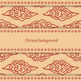 Background decorated chinese pattern Royalty Free Stock Image