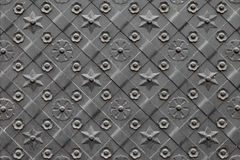 Background of decorated door with wrought iron Royalty Free Stock Photos