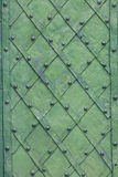 Background of decorated door with wrought iron Royalty Free Stock Photography