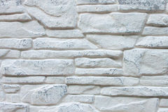 Background of Decorated  Grey Brick Wall Stock Photo