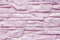 Background of Decorated Lilac Brick Wall Royalty Free Stock Photos