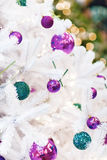 Background with decorated new year tree Royalty Free Stock Photo