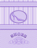 Background decorated for shoes Stock Image