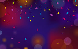 Background decoration. Greeting card design template with confetti. Vector illustration of celebrate brochure or flyer Stock Images