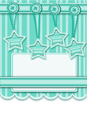 Background with decorations and stars Stock Images