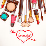 Background with decorative cosmetics Royalty Free Stock Image