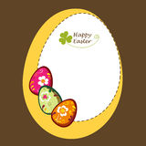Background with decorative easter eggs. Decorative easter eggs. greeting frame card Stock Photo