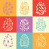 Background from decorative Easter eggs Stock Photo