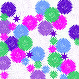 Background with decorative flowers. Background with vector floral patterns. Stylized silhouettes of flowers Stock Images