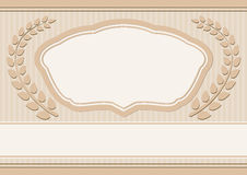 Background. With decorative frame and laurel wreath Royalty Free Stock Images