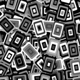 Background with decorative geometric rectangle elements. Black and white background with decorative geometric rectangle elements Royalty Free Stock Photo