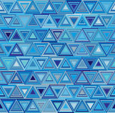 Background with decorative geometric triangle elements. Vector illustration. Blue pattern Stock Photos