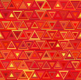 Background with decorative geometric triangle elements. Vector illustration. Red orange yellow pattern Royalty Free Stock Photo