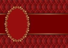 Background. Decorative background with golden frame Stock Images