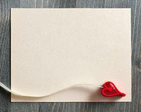 Background with decorative heart Stock Photography