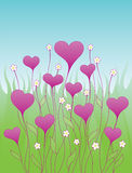 Background with decorative hearts Stock Photography