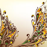 Background with decorative lines Royalty Free Stock Images