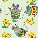 Background with decorative mouses. Seamless background with decorative mouses Stock Photo