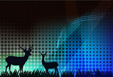 Background with deer Stock Image