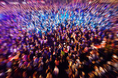 Background of defocused and blurred crowd of people Stock Images