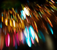 Background of defocused colored lights stock photo