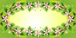 Background with delicate flowers Stock Photo
