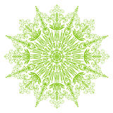 Background delicate light green spring circular mandala   illustration Royalty Free Stock Photos