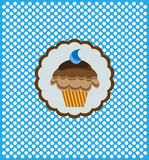 Background with delicious cupcake Stock Photos