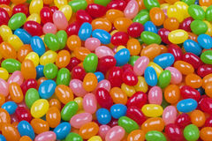 Background of delicious Jelly Bean candy Stock Photos