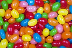 Background of delicious Jelly Bean candy Stock Image