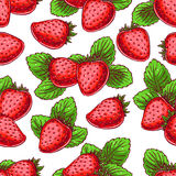Background with delicious strawberries Stock Images