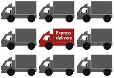 Background with delivery trucks Stock Photos