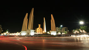 Background: democracy monument with bulb light Royalty Free Stock Images