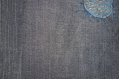 Background of a denim fabric of gray color Stock Image