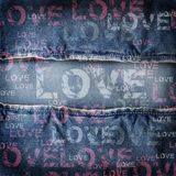 Background denim love texture Royalty Free Stock Photos