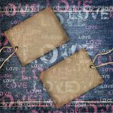 Background denim love texture Stock Photos