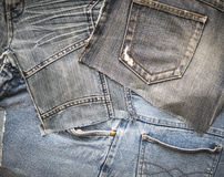 Background from denim Royalty Free Stock Photos