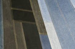 Background  denim patchwork texture Stock Image